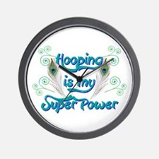 Hula Hooping is My Super Power Wall Clock