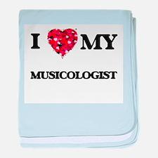 I love my Musicologist hearts design baby blanket