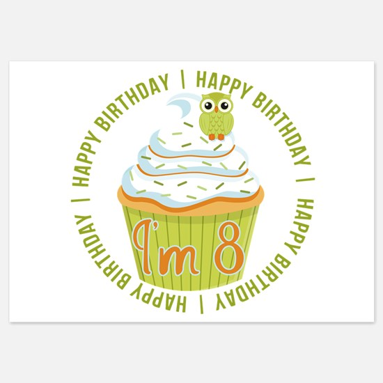 8th Birthday Cupcake Invitations