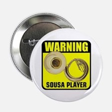 """3-caution sousa player.png 2.25"""" Button (10 pack)"""