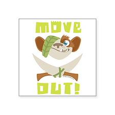 """Ice Age Move Square Sticker 3"""" x 3"""""""