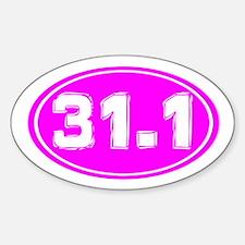 31.1 Ultra Marathon Decal