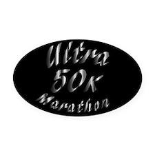 50 K Ultra Marathon Oval Car Magnet