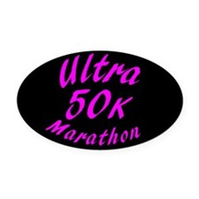 50 K Ultra Marathon Oval Car Magnet