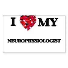 I love my Neurophysiologist hearts design Decal