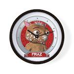 Fraz's Red Portrait Wall Clock