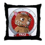 Fraz's Red Portrait Throw Pillow