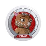 Fraz's Red Portrait Ornament (Round)