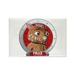 Fraz's Red Portrait Rectangle Magnet (100 pack)