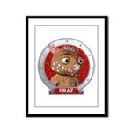 Fraz's Red Portrait Framed Panel Print
