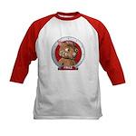 Fraz's Red Portrait Kids Baseball Jersey