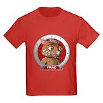 Fraz's Red Portrait Kids Dark Colored Tee-Shirt
