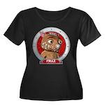 Fraz's Red Portrait Women's Plus Size Scoop Neck T