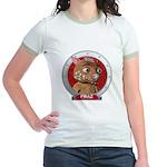 Fraz's Red Portrait Jr. Ringer T-Shirt