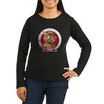 Fraz's Portrait Women's Long Sleeve Dark Tee-Shirt