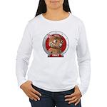 Fraz's Red Portrait Women's Long Sleeve T-Shirt