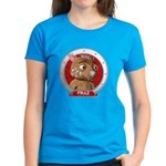 Fraz's Red Portrait Women's Dark Colored Tee-Shirt