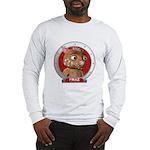Fraz's Red Portrait Long Sleeve T-Shirt