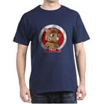 Fraz's Red Portrait Dark T-Shirt