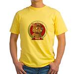 Fraz's Red Portrait Yellow T-Shirt