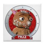 Fraz's Red Portrait Tile Coaster