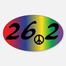26.2 Marathon Peace Decal