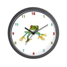 Tree Frog Wall Clock