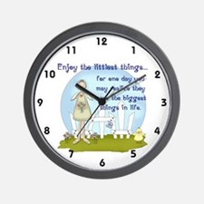 Enjoy the Littlest Things Wall Clock