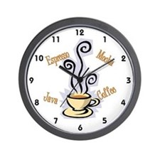 Kitchen clocks kitchen wall clocks large modern kitchen clocks - Coffee themed wall clocks ...