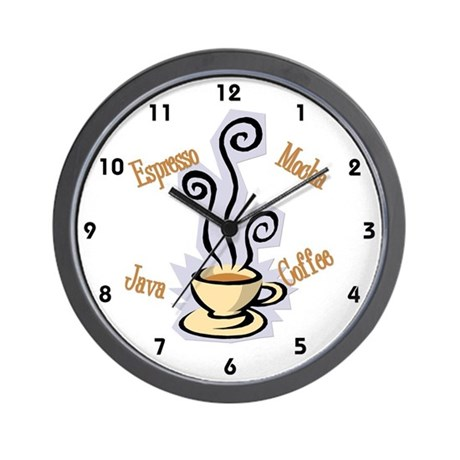 Coffee themed wall clock by whitecatdesigns - Coffee themed wall clocks ...
