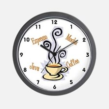 Coffee Themed Wall Clock