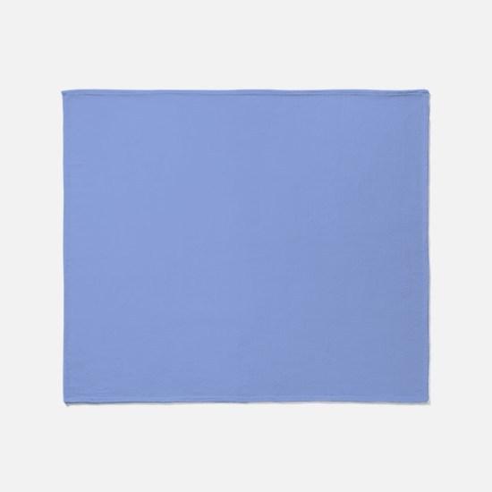 Solid Light Blue Throw Blanket