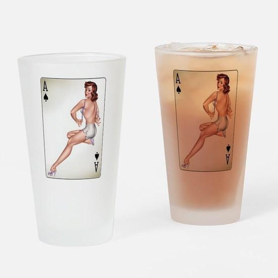 Pin ups Drinking Glass
