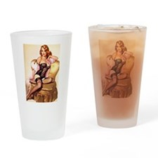 Pin ups Drinking Glass