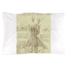 Spinal Column by Leonardo da Vinci Pillow Case