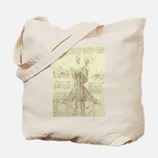 Spinal Column by Leonardo da Vinci Tote Bag