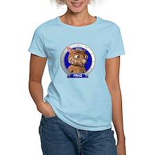 Fraz's Blue Portrait Women's T-Shirt Light Colored