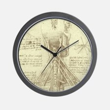 Spinal Column by Leonardo da Vinci Wall Clock