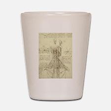 Spinal Column by Leonardo da Vinci Shot Glass
