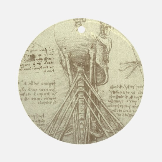 Spinal Column by Leonardo da Vin Ornament (Round)