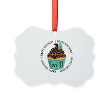 11th Birthday Cupcake Ornament
