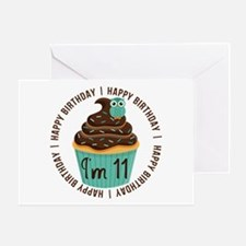 11th Birthday Cupcake Greeting Card