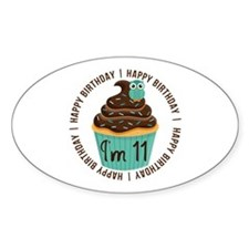 11th Birthday Cupcake Decal