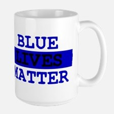Blue Lives Matter Thin Line Mug
