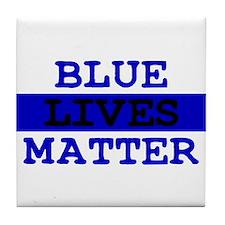 Blue Lives Matter Thin Line Tile Coaster