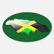 """Jamaica Bubble Map"" Oval Decal"