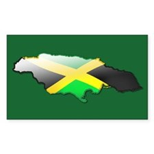 """""""Jamaica Bubble Map"""" Rectangle Decal"""