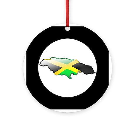 """Jamaica Bubble Map"" Ornament (Round)"