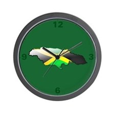 """Jamaica Bubble Map"" Wall Clock"