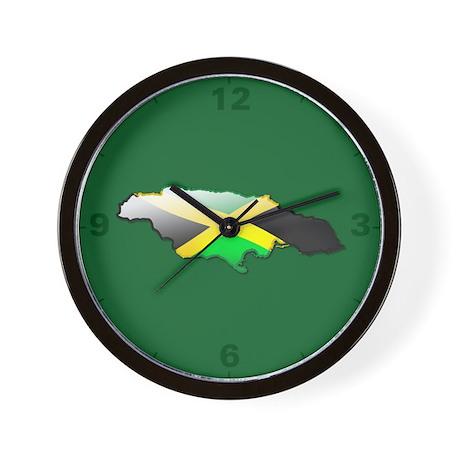 """Jamaica Bubble Map"" Wall Clock"